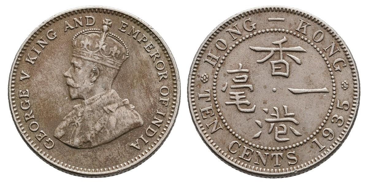 Hong Kong. 10 cents. 1935