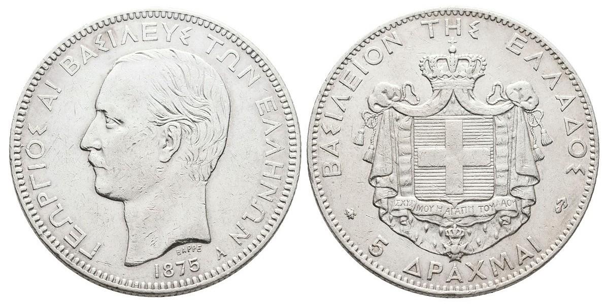 Grecia. 5 drachma. 1875 A