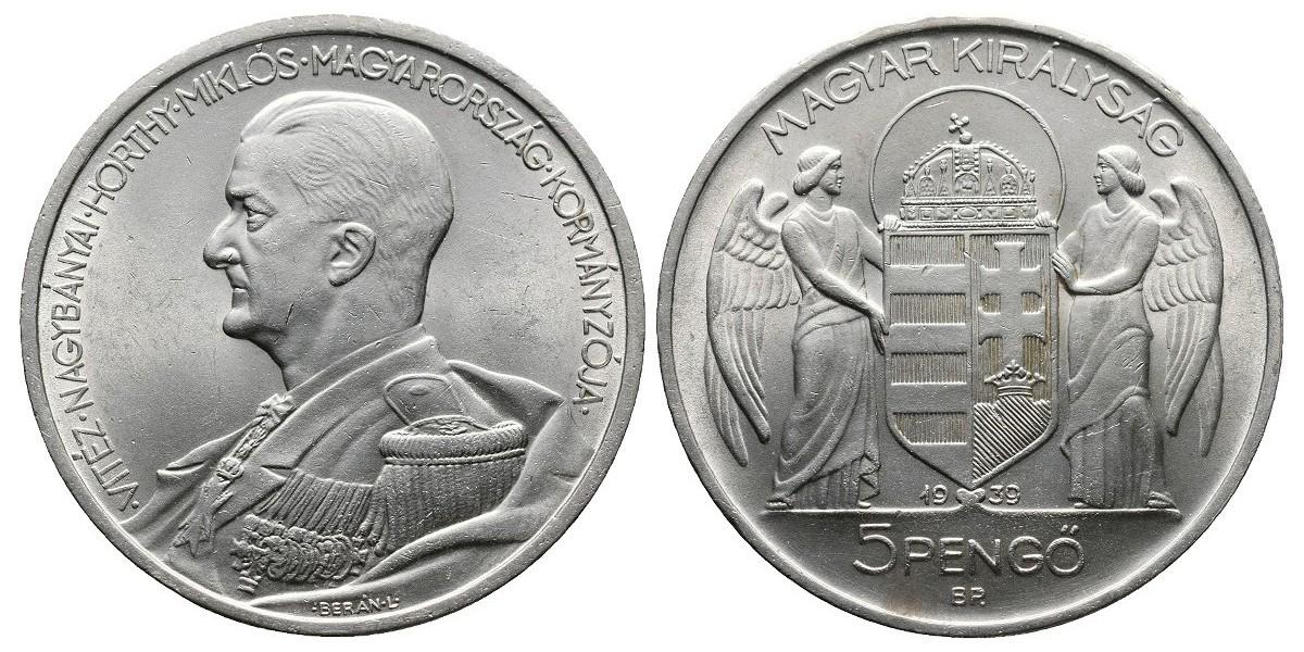 Hungría. 5 pengo. 1939
