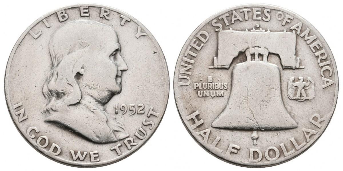 Estados Unidos. 1/2 dollar. 1952 D