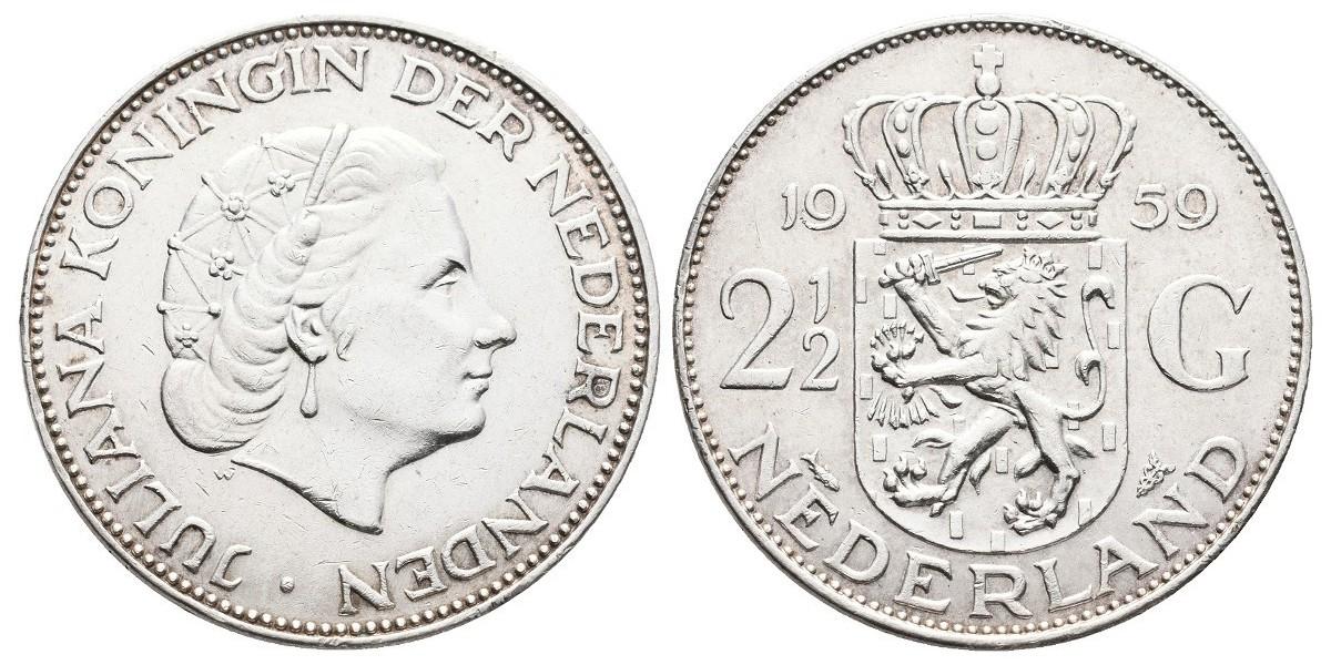 Holanda. 2 1/2 gulden. 1959