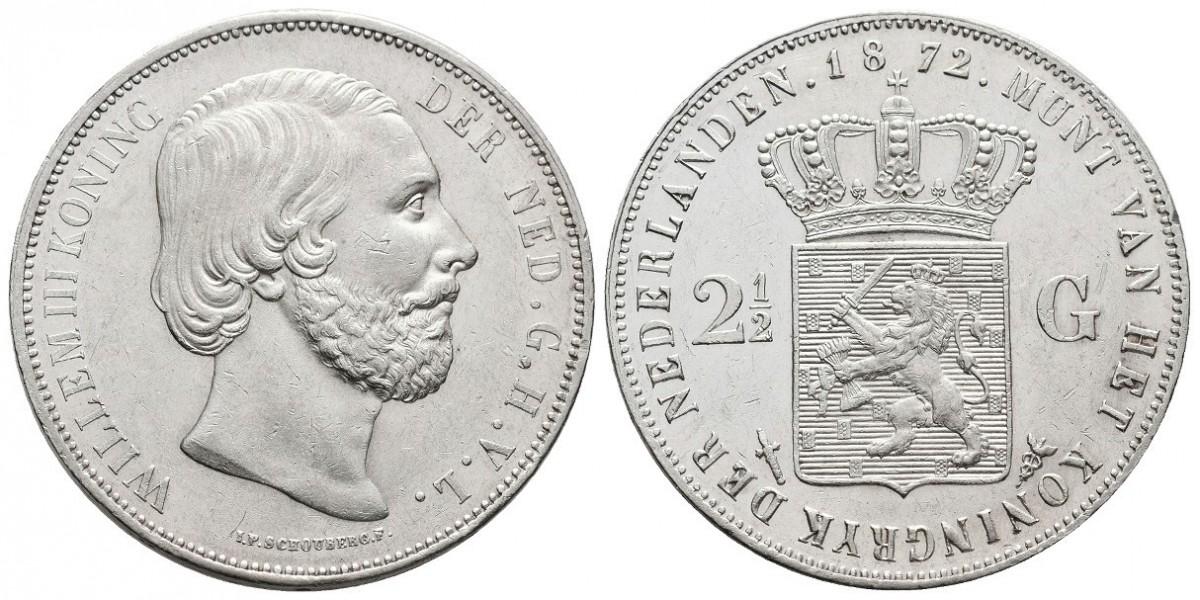 Holanda. 2 1/2 gulden. 1872