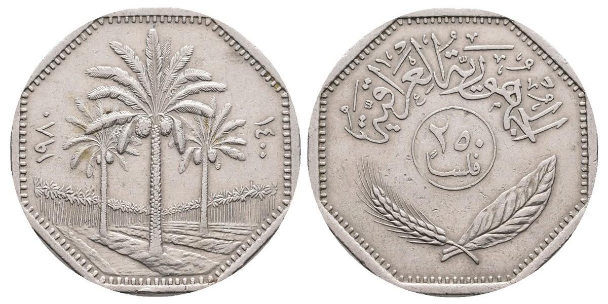 Irak. 250 fils. 1980
