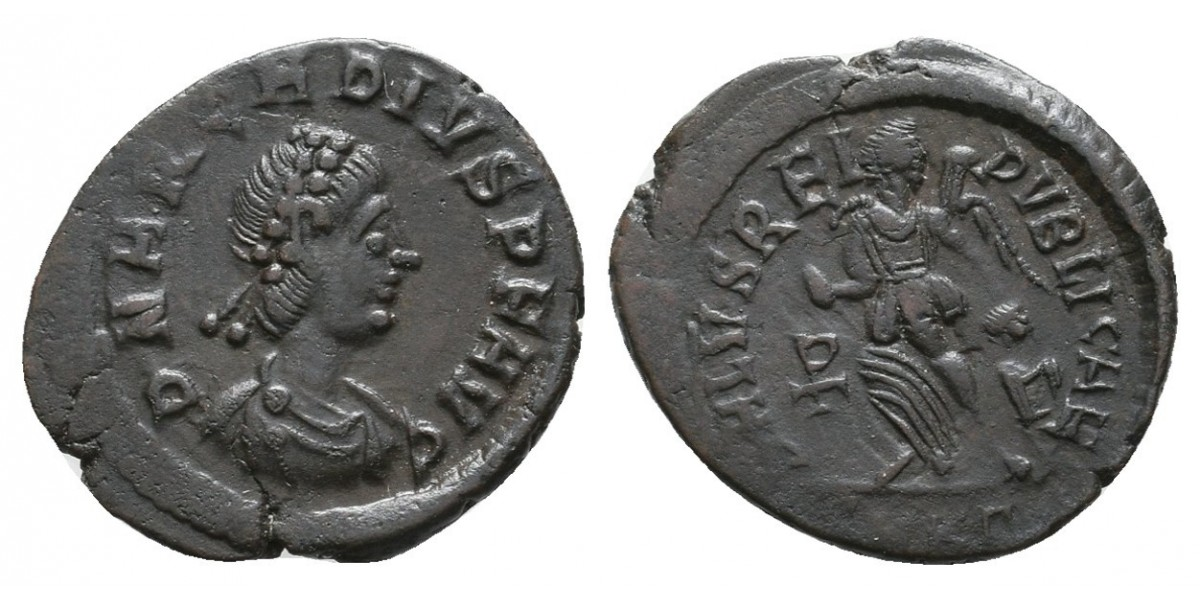 Arcadio. Fracción de centenional. 383-408 d.C.. Kyzicus