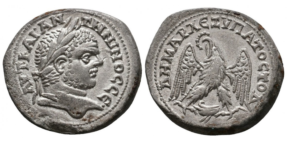 Caracalla. Tetradracma. 198-217 d.C.. Berithus