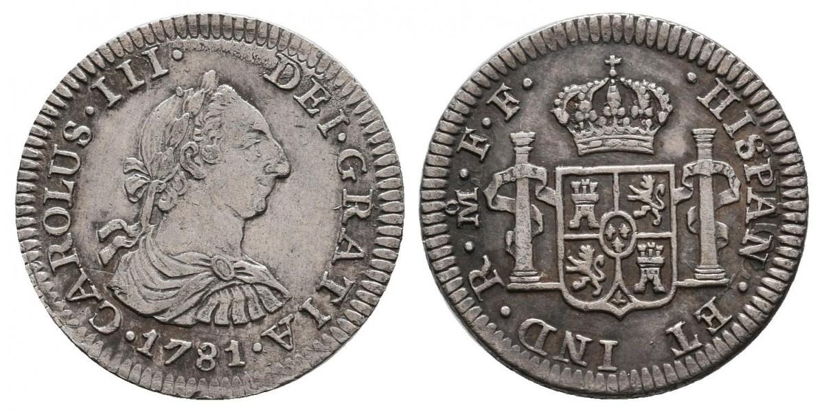 Carlos III. 1/2 real. 1781 F.F.. Méjico