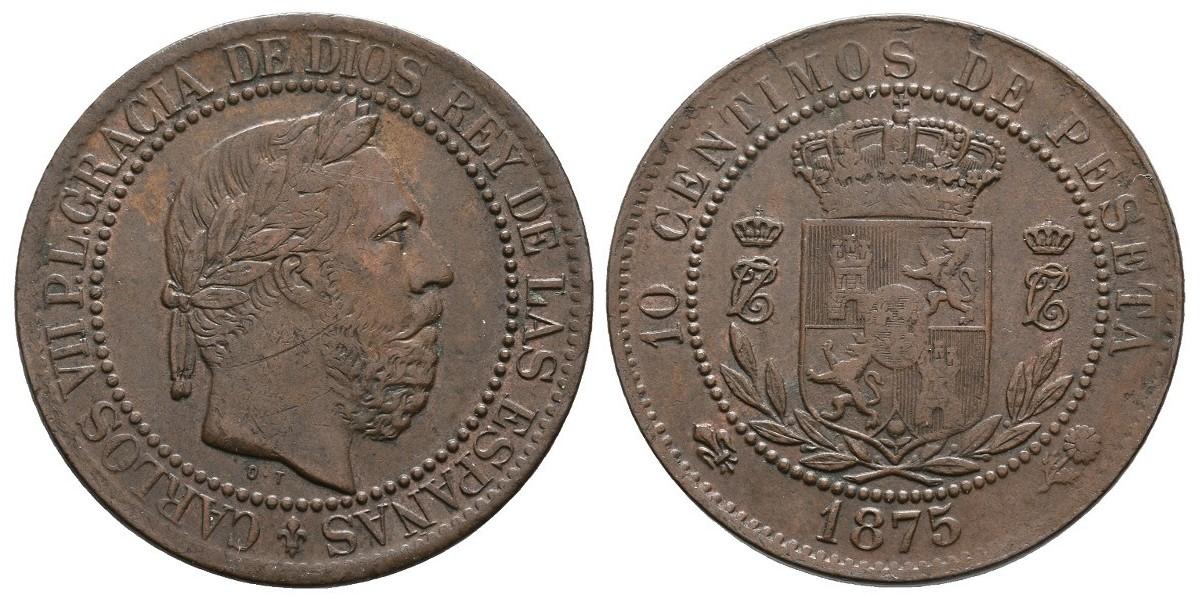 Carlos VII. 10 céntimos. 1875. Oñate