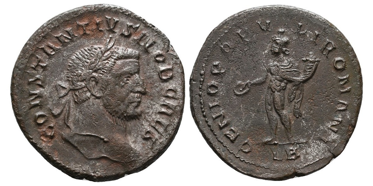 Constancio I. Follis. 305-306 d.C.. LB
