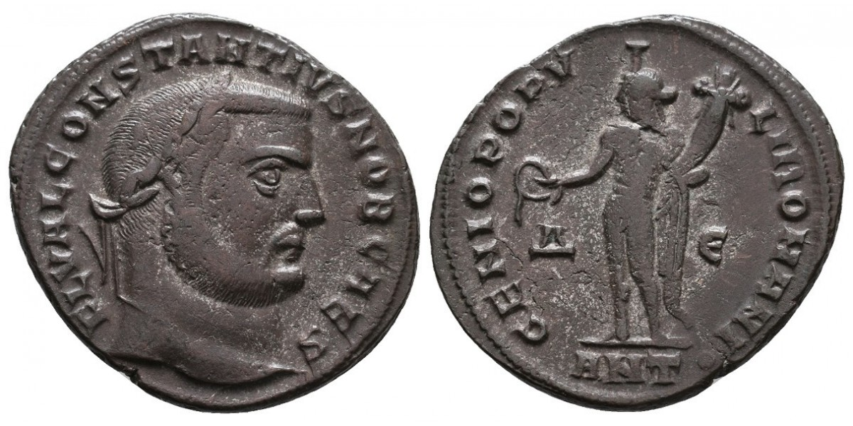 Constancio I. Follis. 305-306 d.C.. Antioquía