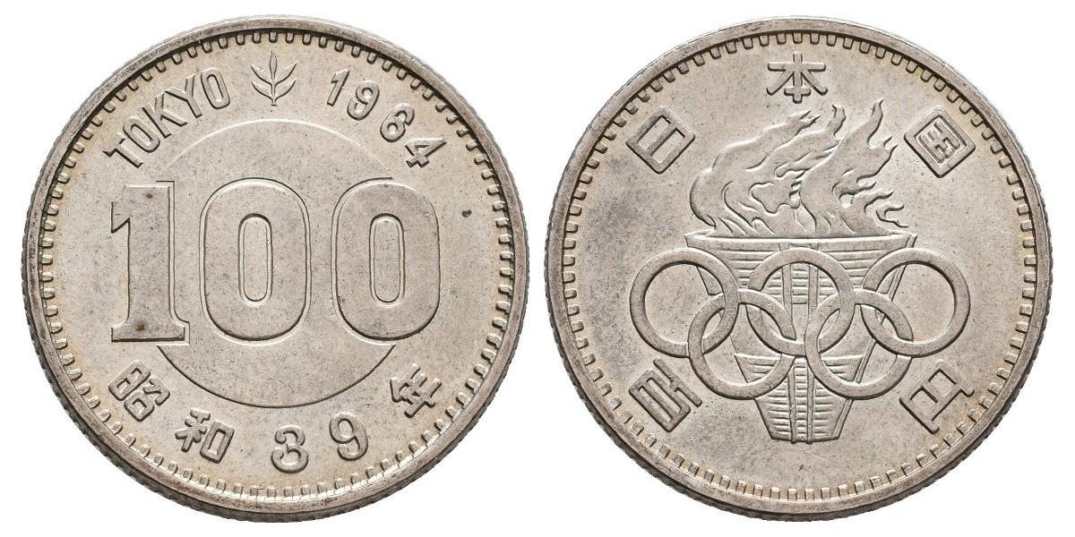 Japón. 100 yen. 1964