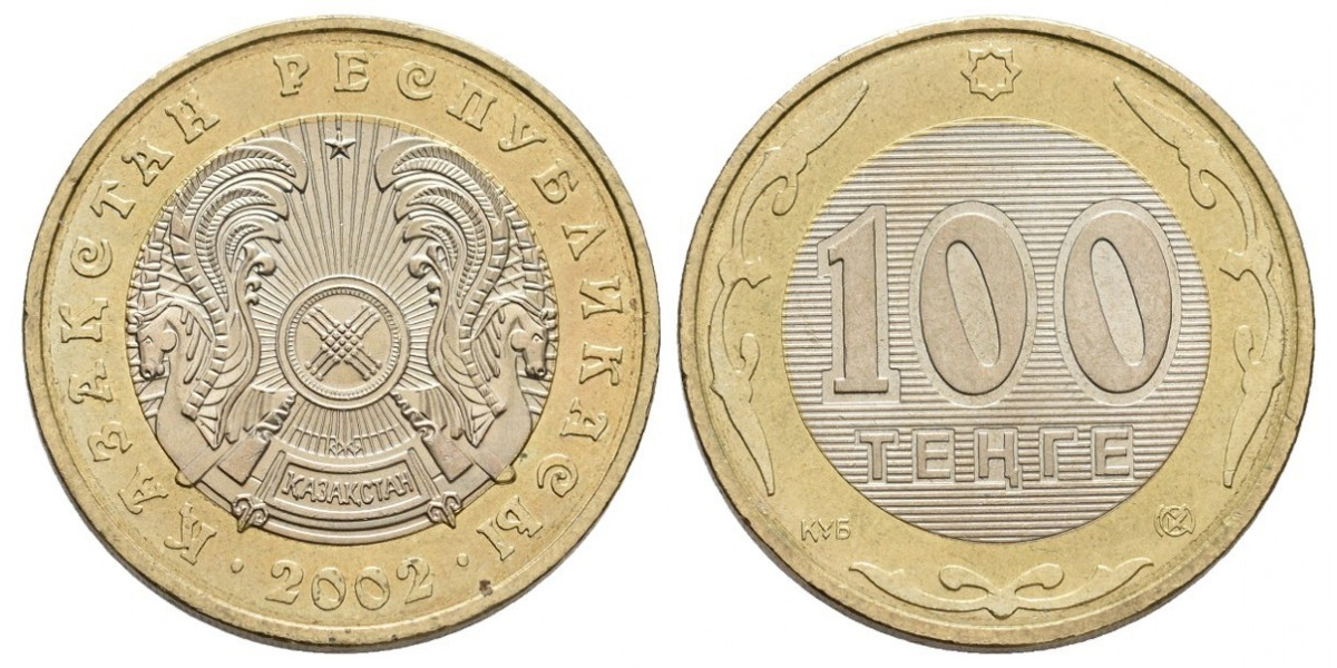 Kazajistán. 100 tenge. 2002