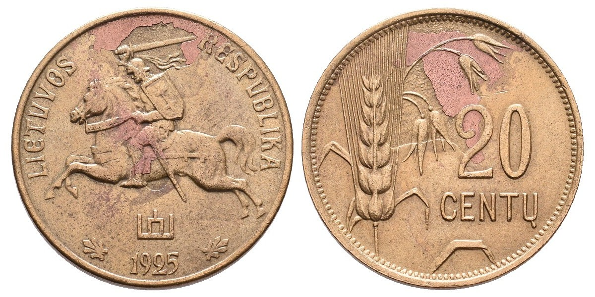 Lithuania. 20 centu. 1925