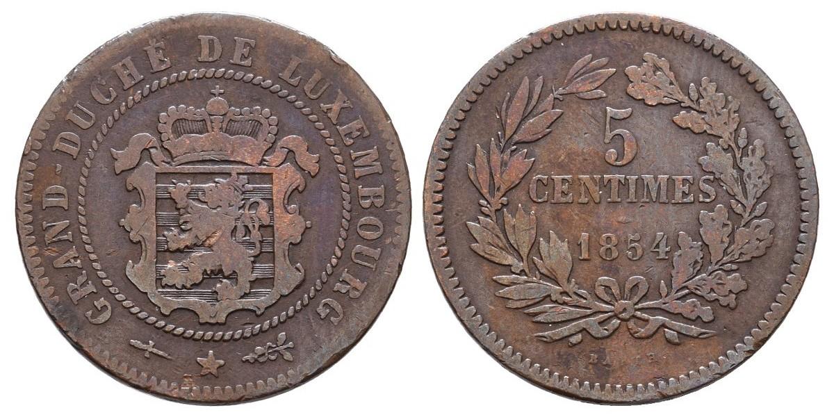 Luxemburgo. 5 centimes. 1854