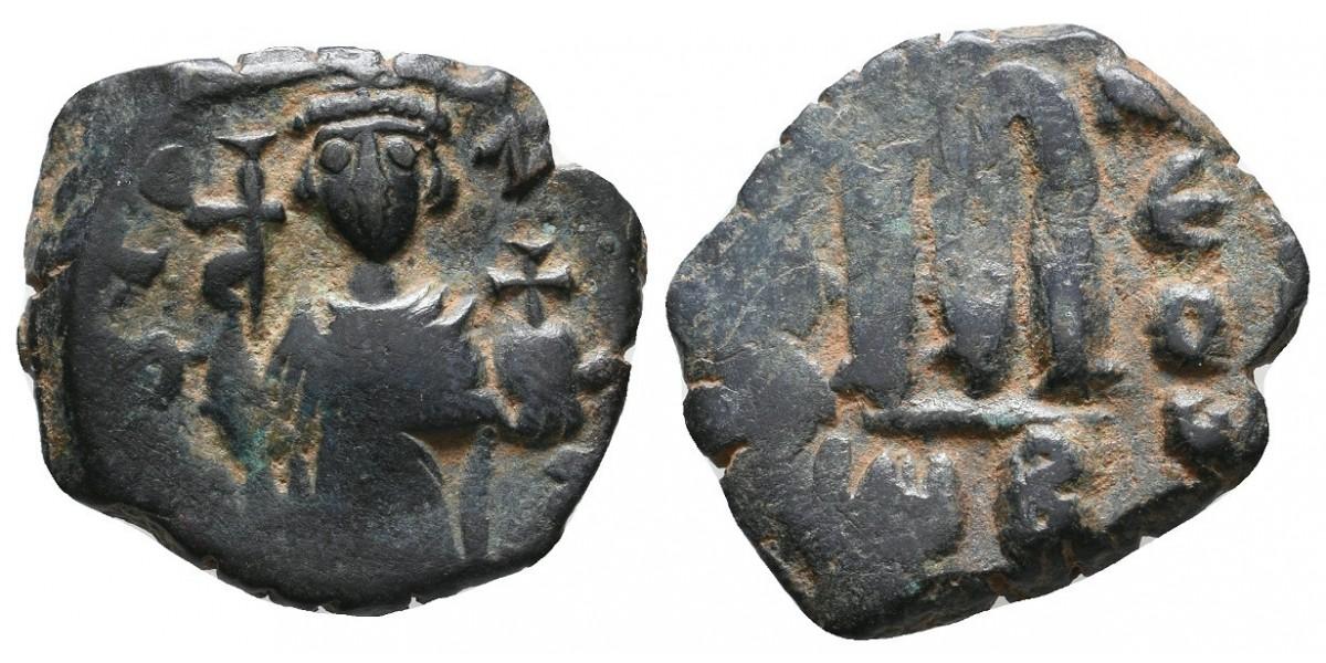Constante II. Follis. 641-668 d.C.. Antioquía