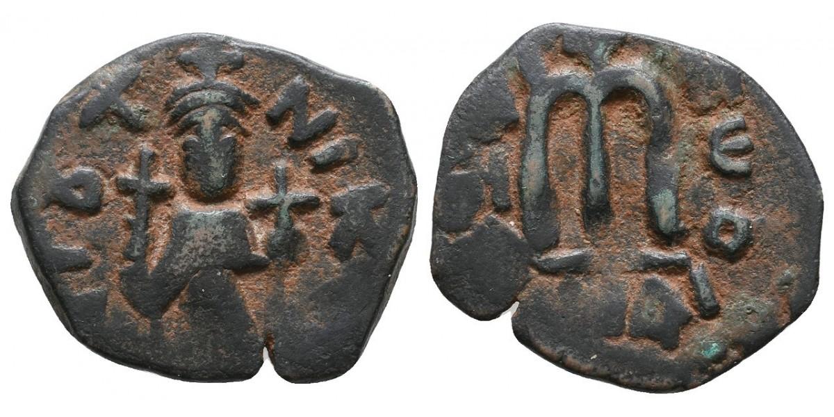 Constante II. Follis. 641-668 d.C.. Constantinopla