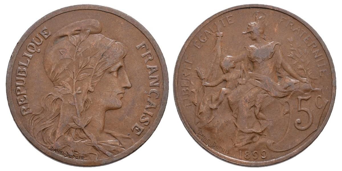 Francia. 5 centimes. 1899