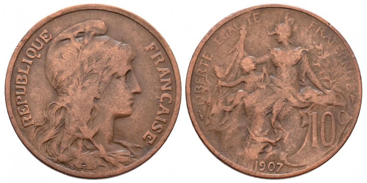 Francia. 10 centimes. 1907
