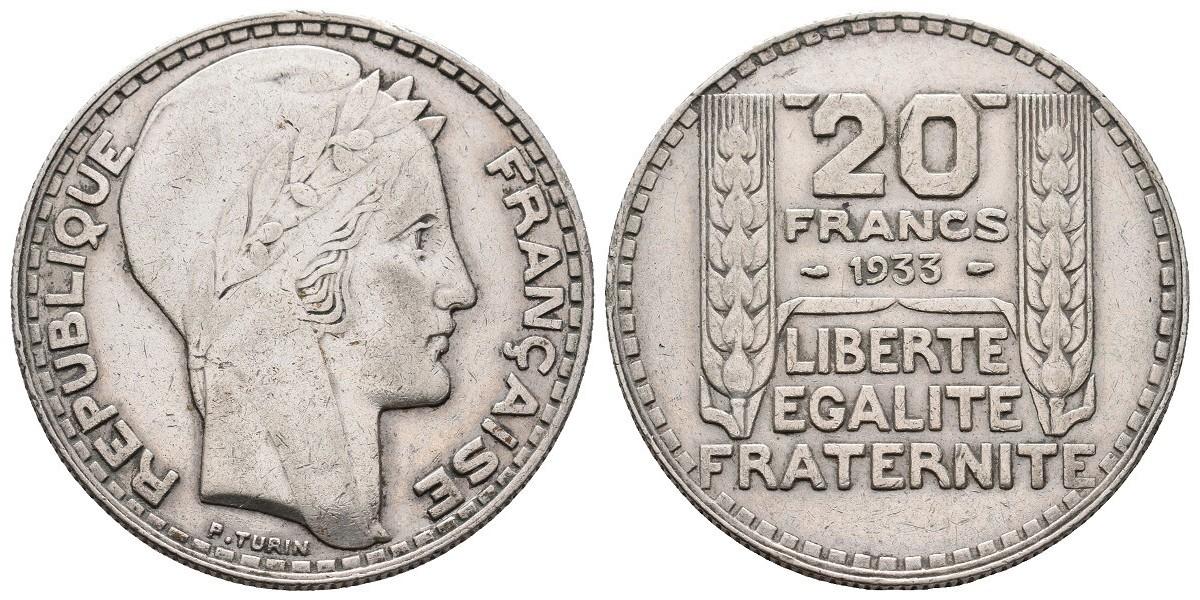 Francia. 20 francs. 1933