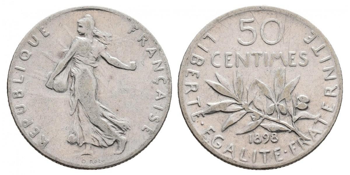 Francia. 50 centimes. 1898