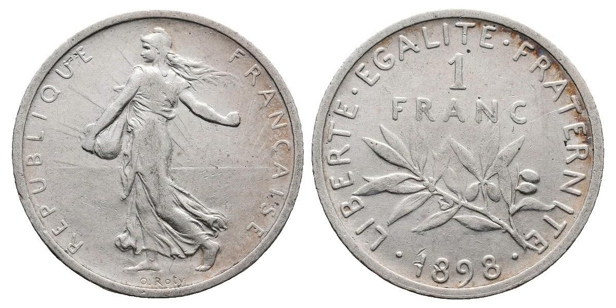 Francia. 1 franc. 1898