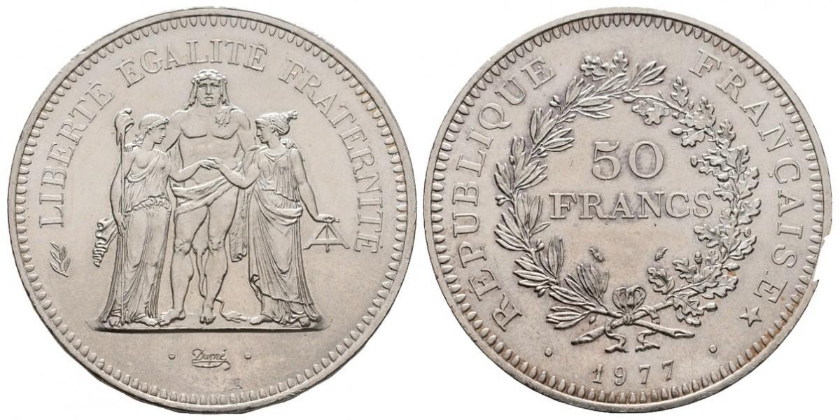 Francia. 50 francs. 1977