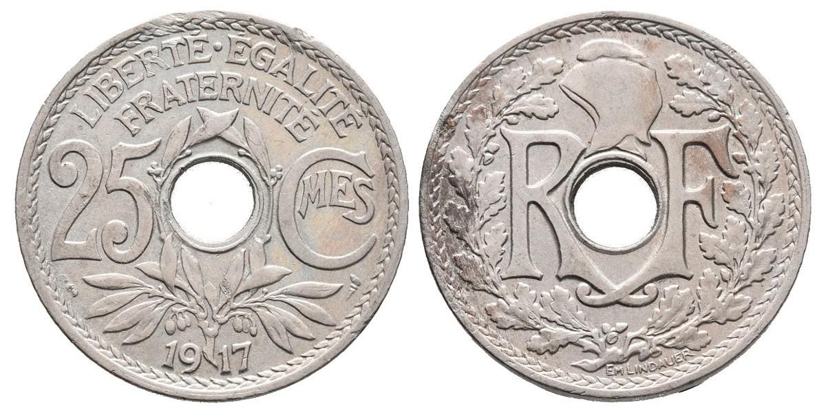 Francia. 25 centimes. 1917