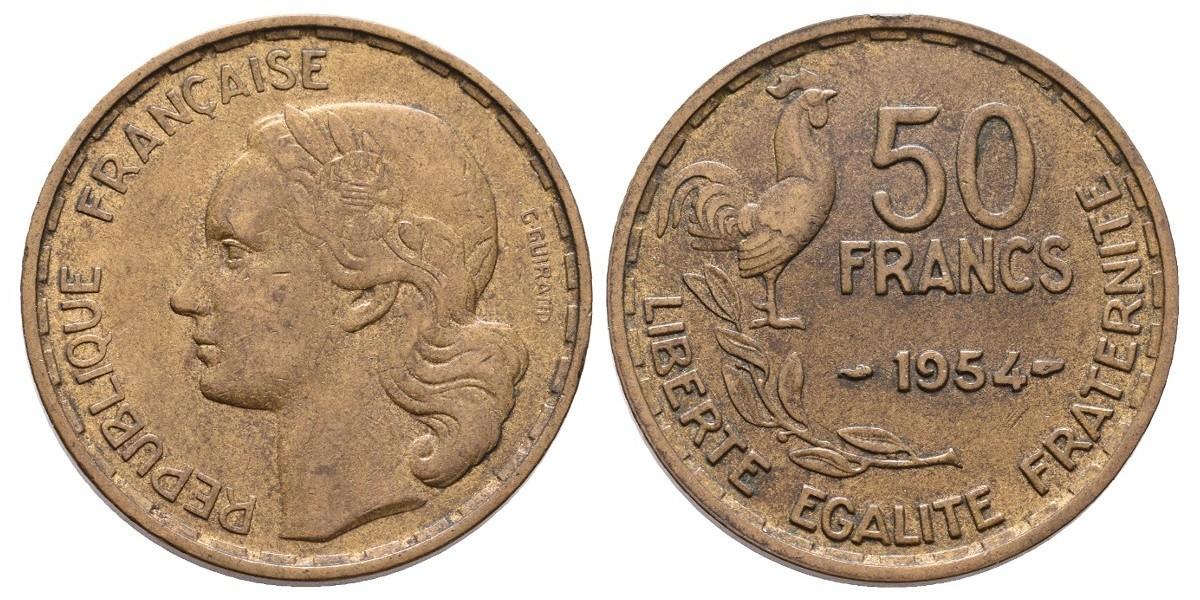 Francia. 50 francs. 1954