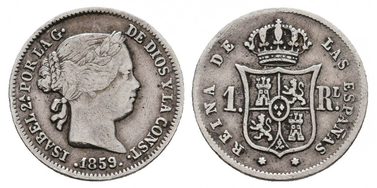 Isabel II. 1 real. 1859