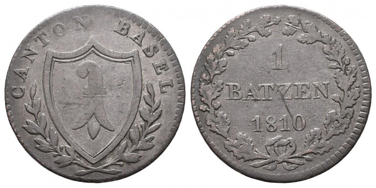 Suiza. 1 batzen. 1810. Basel