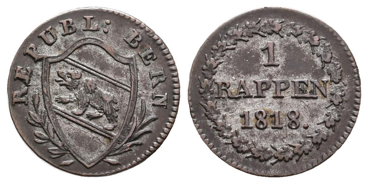 Suiza. 1 rappen. 1818. Berna