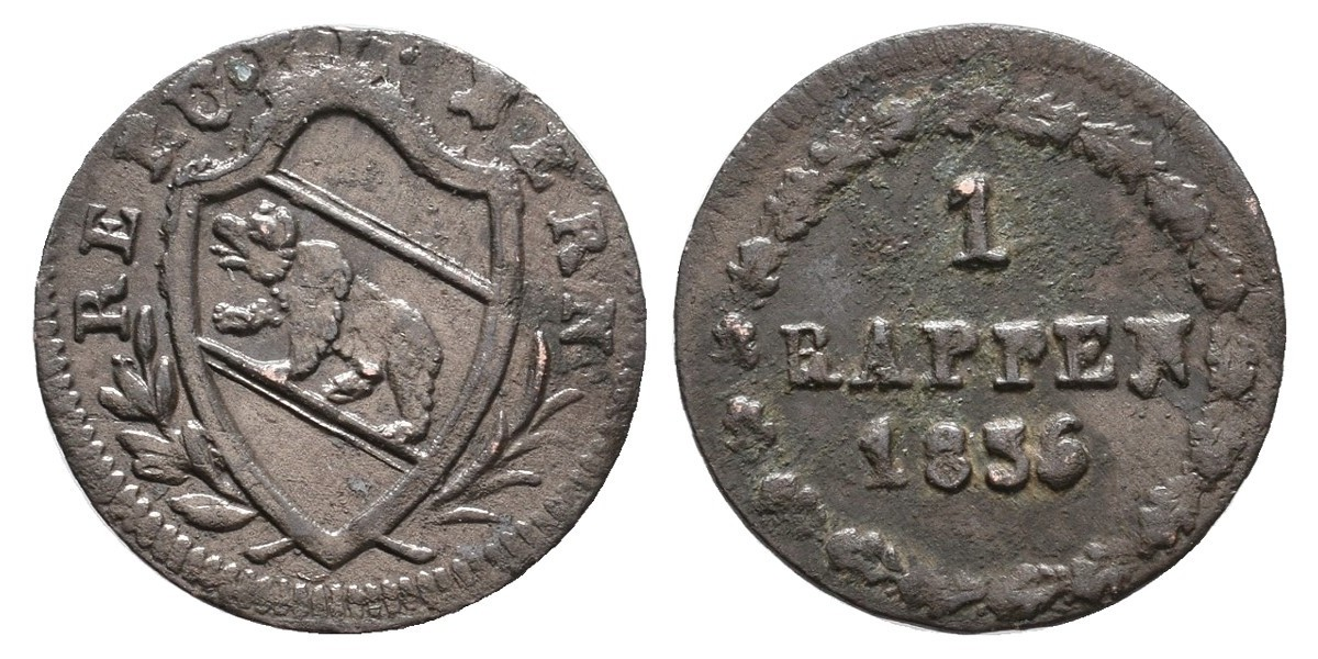 Suiza. 1 rappen. 1836. Berna