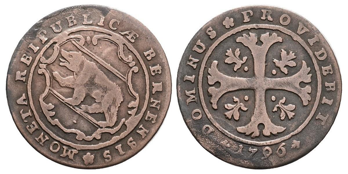 Suiza. 1/2 batzen. 1796. Berna