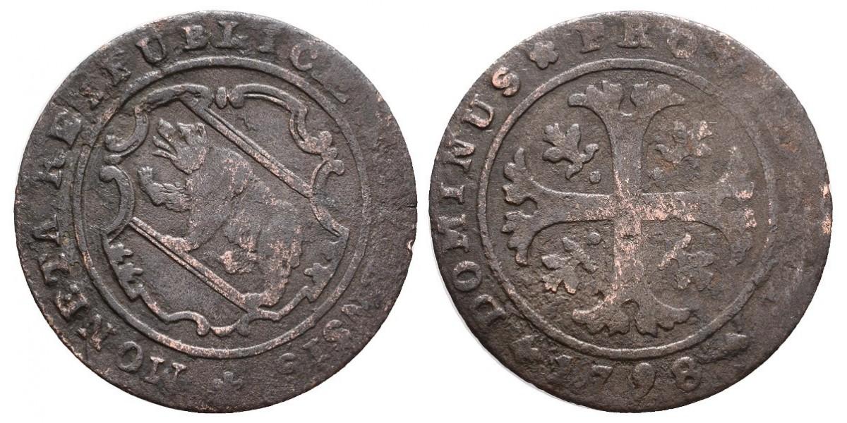 Suiza. 1/2 batzen. 1798. Berna