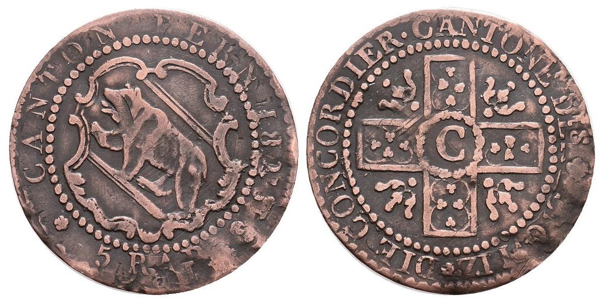 Suiza. 5 rappen. 1826. Berna