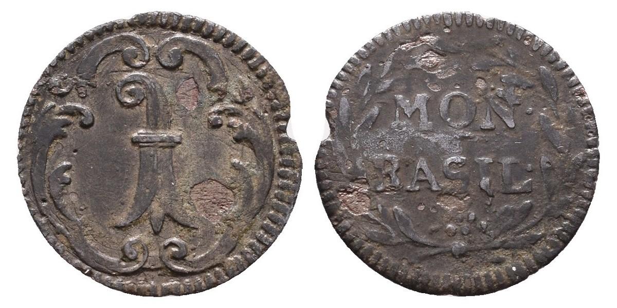Suiza. 1 rappen. Hacia 1750. Basel