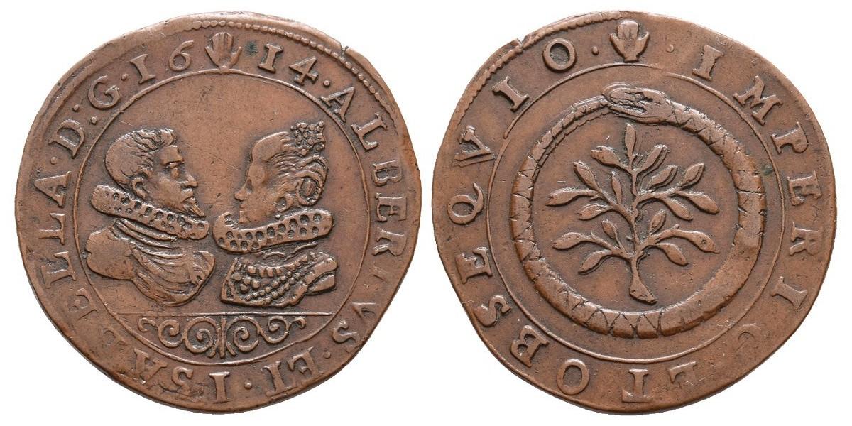 Alberto e Isabel. Jetón. 1614. Amberes