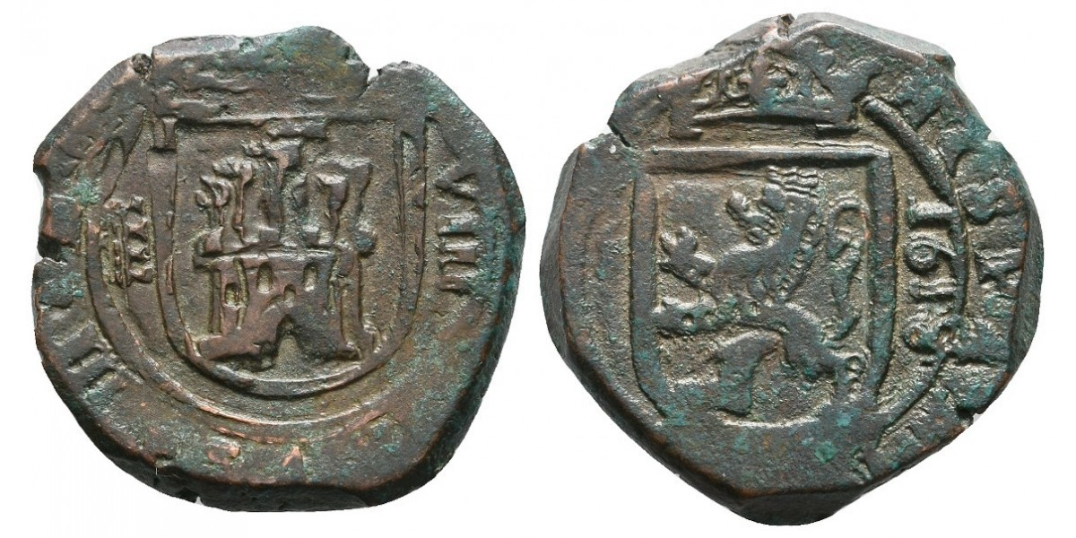 Felipe III. 8 maravedís. 1618. Segovia