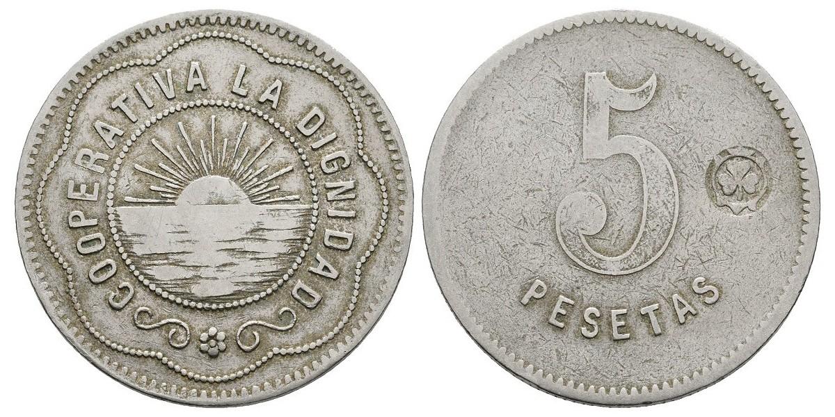 La Dignidad. 5 pesetas. S.F
