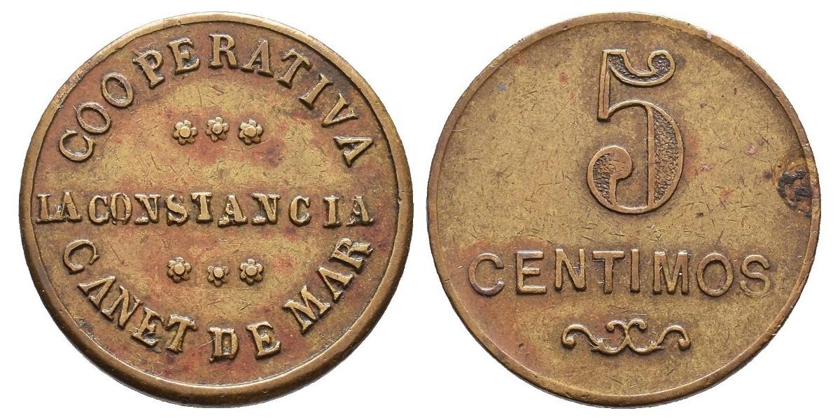 La Constancia. 5 céntimos. S.F