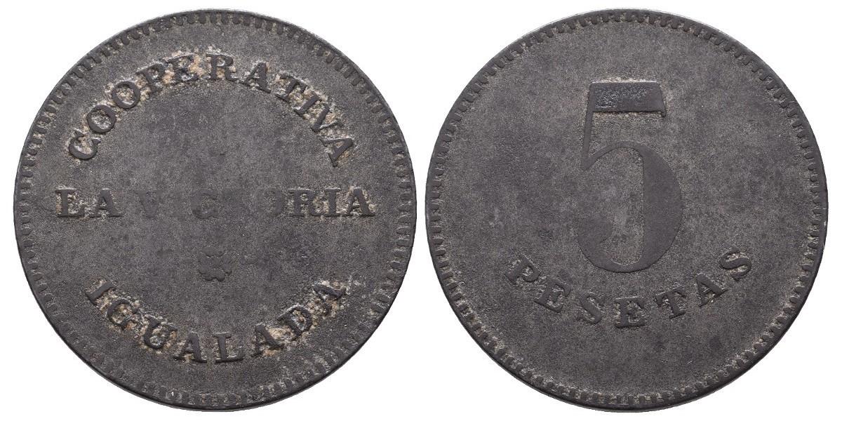 La Victoria. 5 pesetas. S.F