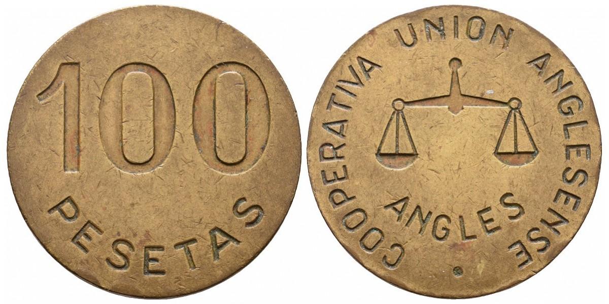Union Anglesense. 100 pesetas. S.F