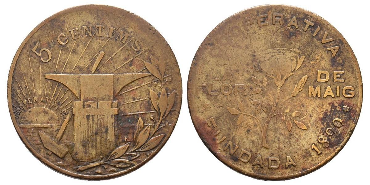 La Flor de Maig. 5 céntimos. 1890
