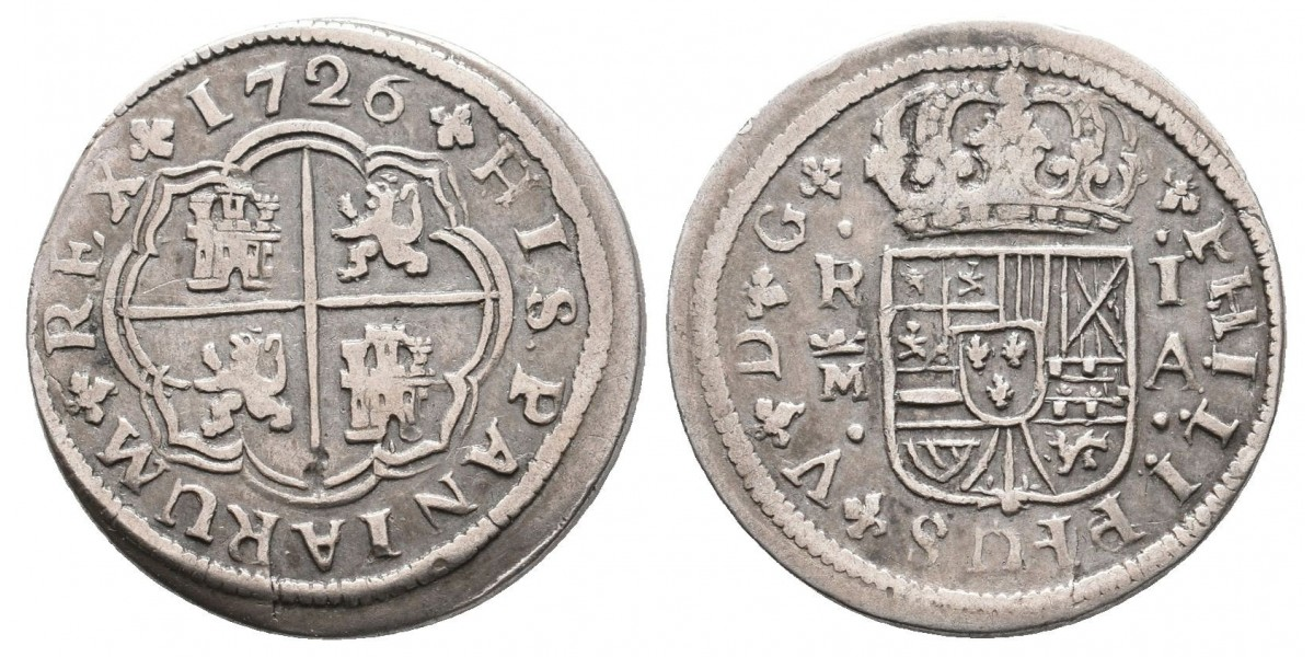 Felipe V. 1 real. 1726 I.A.. Madrid