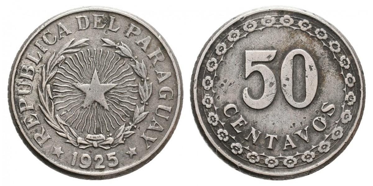 Paraguay. 50 centavos. 1925