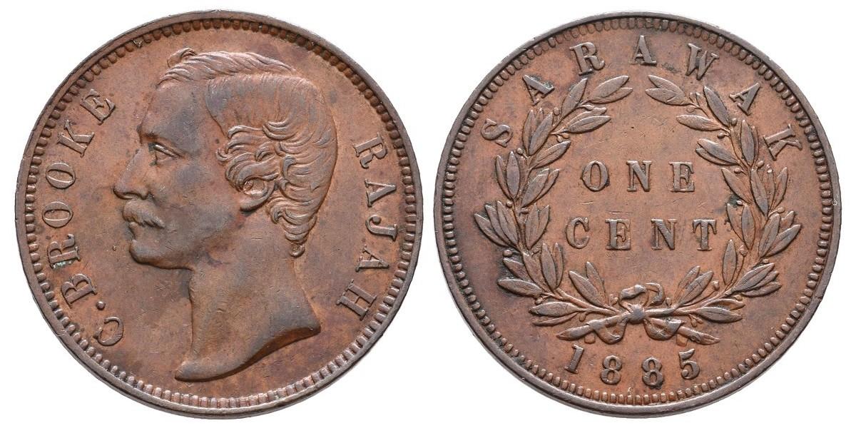 Sarawak. 1 cent. 1885