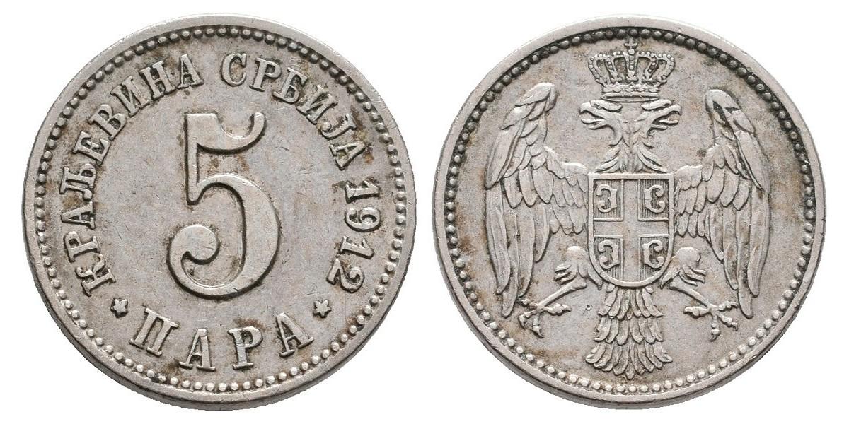 Serbia. 5 para. 1912