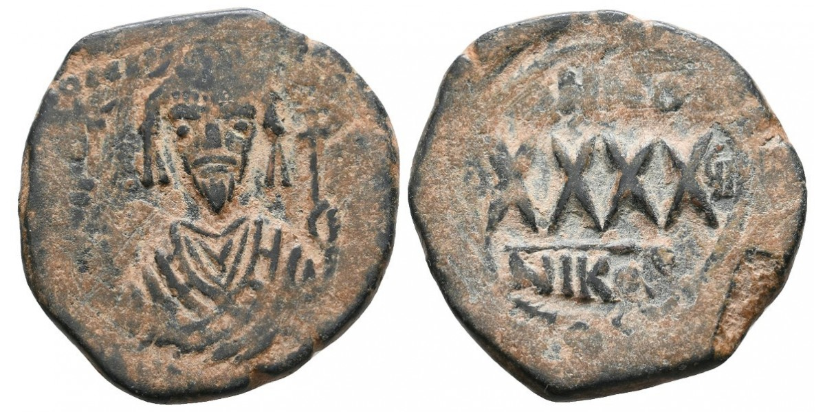 Focas. Follis. 602-610 d.C.. Nicomdia