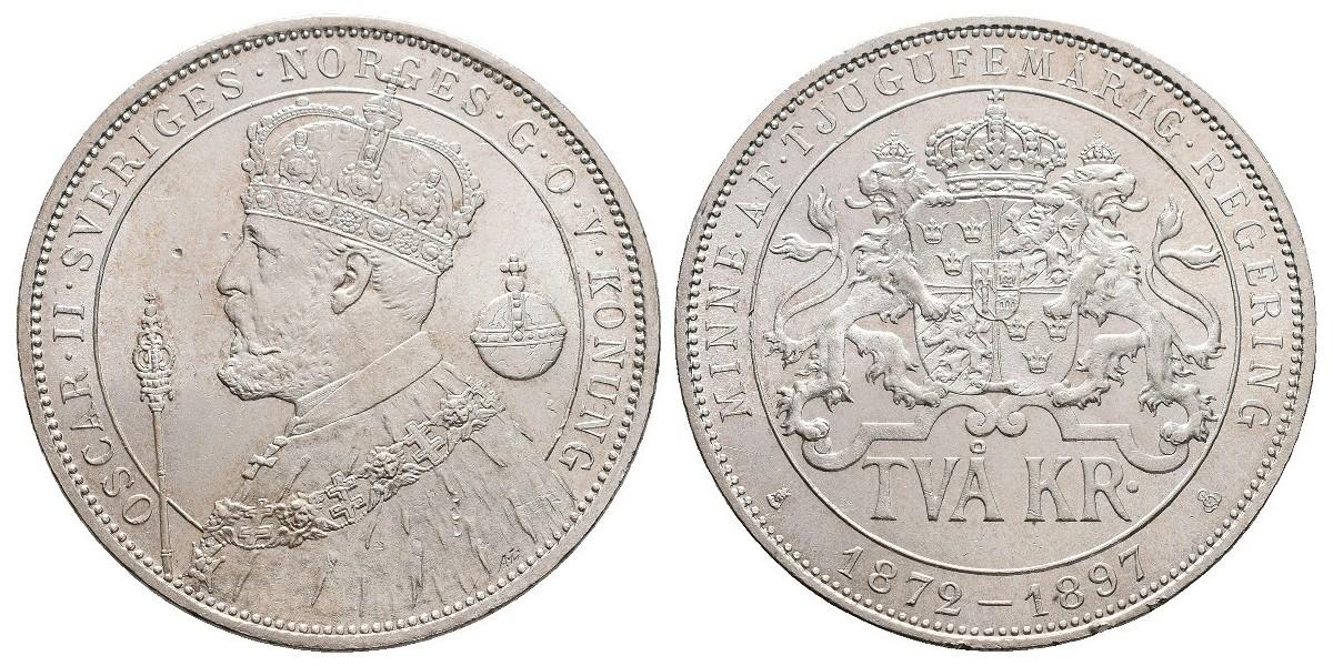 Suecia. 2 kronnor. 1897
