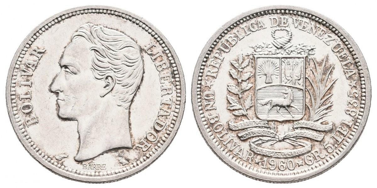Venezuela. 1 bolivar. 1960