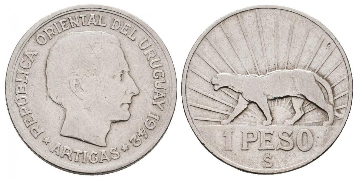 Uruguay. 1 pesos. 1942